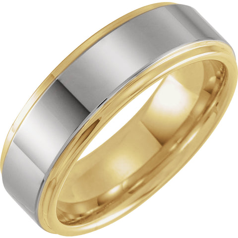 Men's 18KY + Tungsten Band