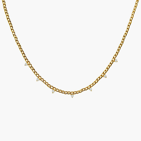 Cuban Link + Diamond Necklace