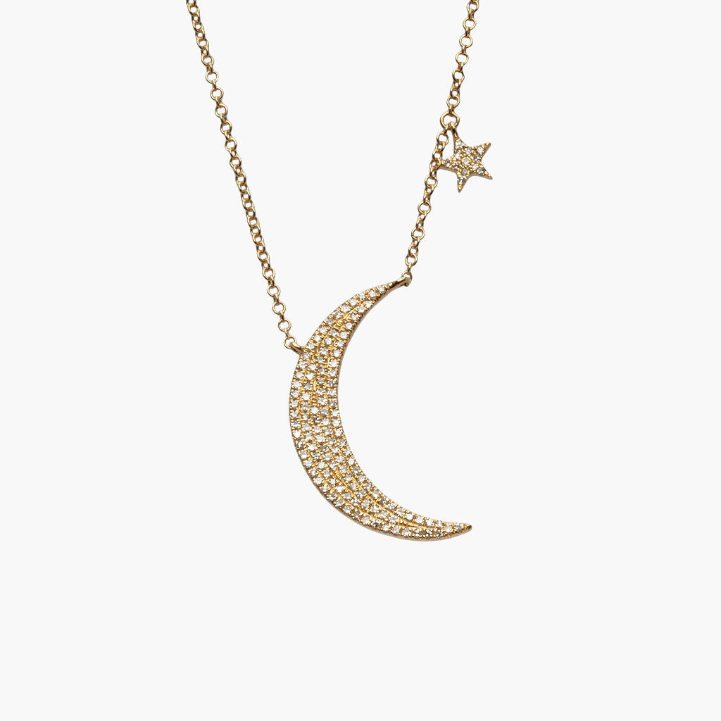 Moon + Star Necklace