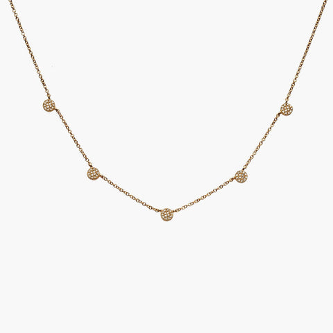 Pave Diamond by the Yard Necklace
