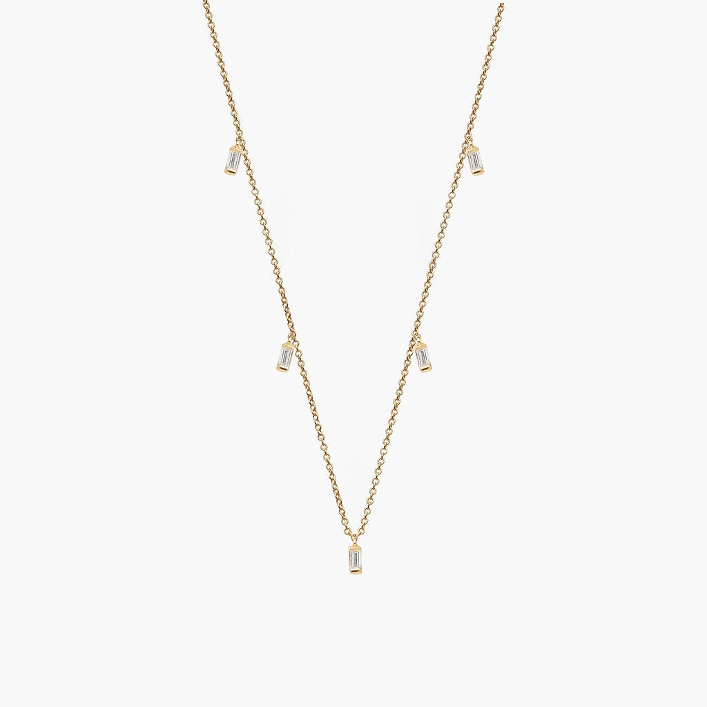 Diamond Baguette Shaker Necklace