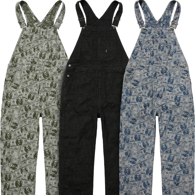 Supreme Black 100 Dollar Overalls