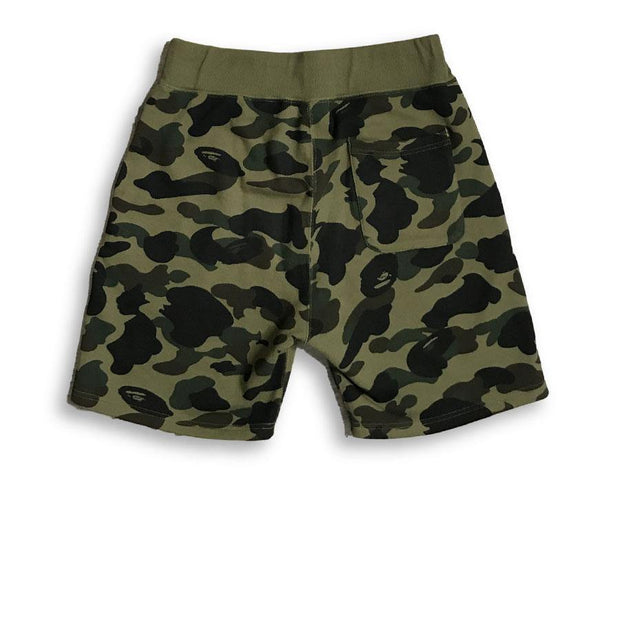 BAPE Camo Shorts Green