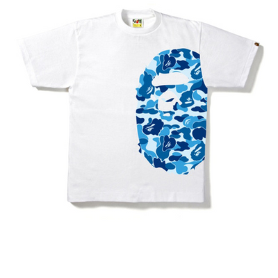 Bape Side Ape Head ABC Blue Camo Tee - Rerun Toronto