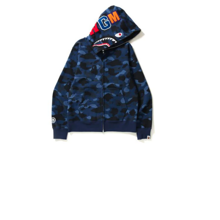 Bape Blue Camo Shark