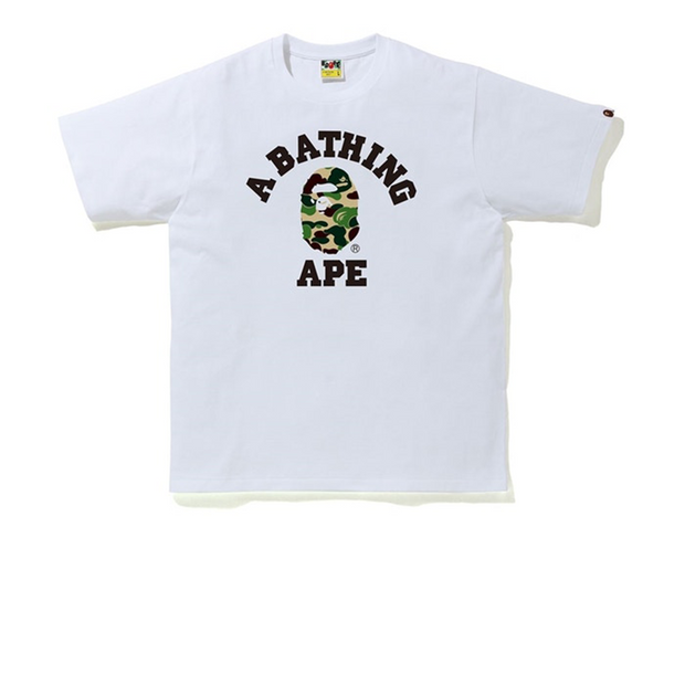 BAPE ABC Camo College Tee White/Green