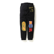 Bape WGM Shark Sweatpants Black