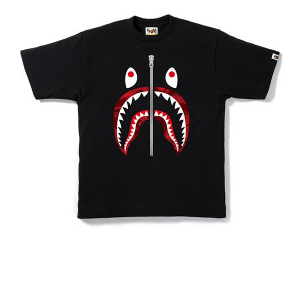 Bape Red Camo Shark Tee