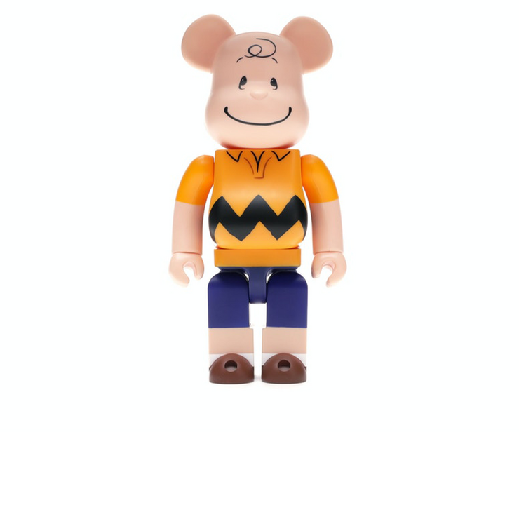 Bearbrick Charlie Brown 400% Yellow