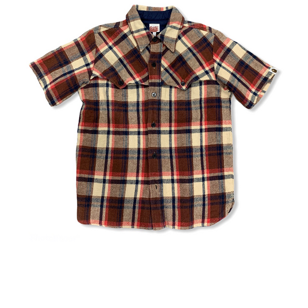 Bape Burberry Camo Short Sleeve Flannel