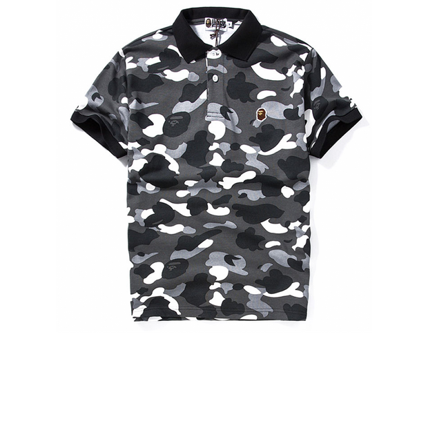 BAPE Black Camo Polo
