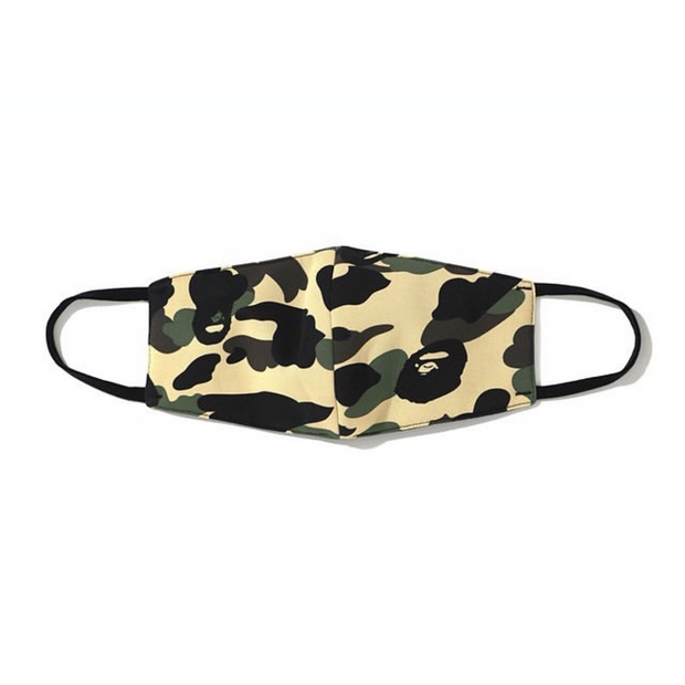 BAPE 1ST CAMO MASK YELLOW