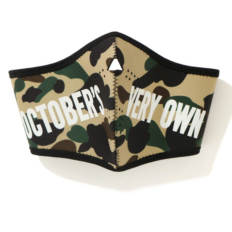 BAPE x OVO 1st Camo Mask Yellow