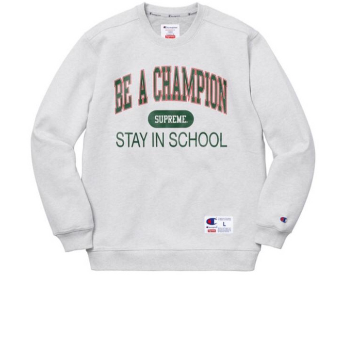 Supreme Be A Champion Crewneck Grey - Rerun Toronto
