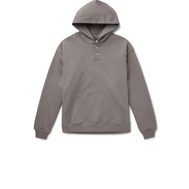 FEAR OF GOD Everyday Henley Hoodie Grey