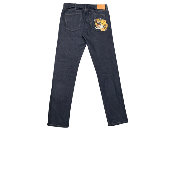 Gucci Tiger Patch Denim Jeans