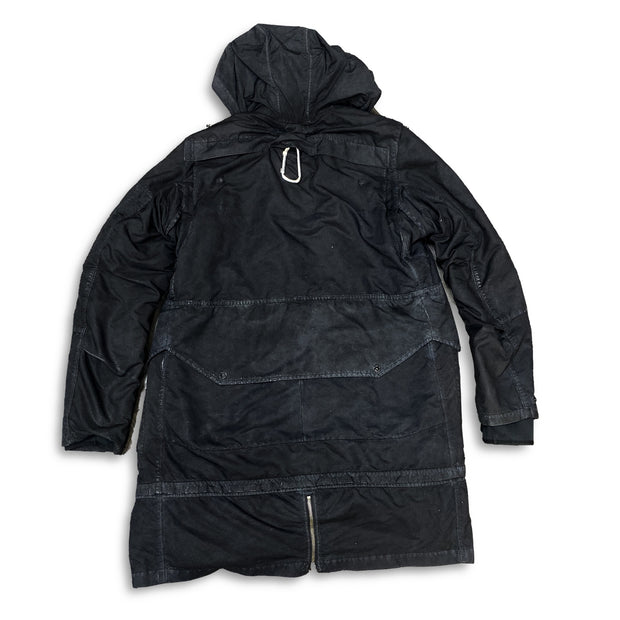 Stone Island Black Garment Dye Shadow Project David TC Parka