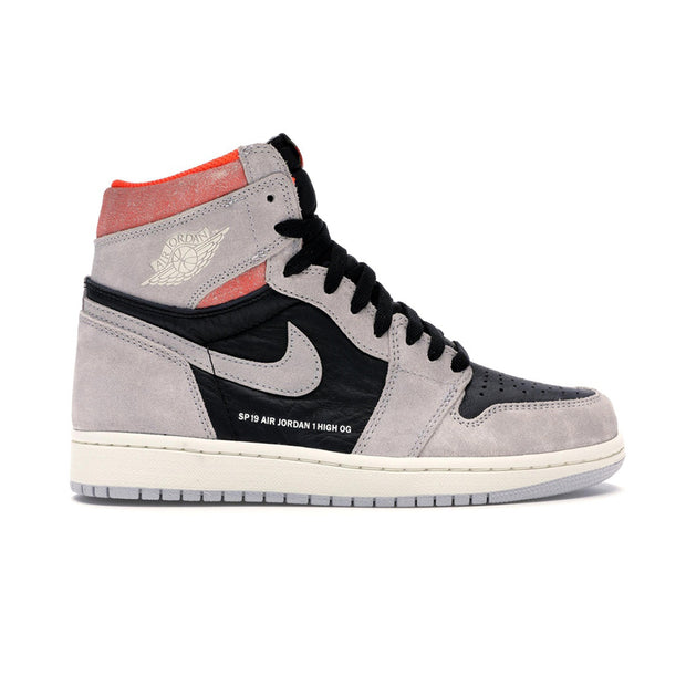 Jordan 1 Retro High Neutral Grey Hyper Crimson