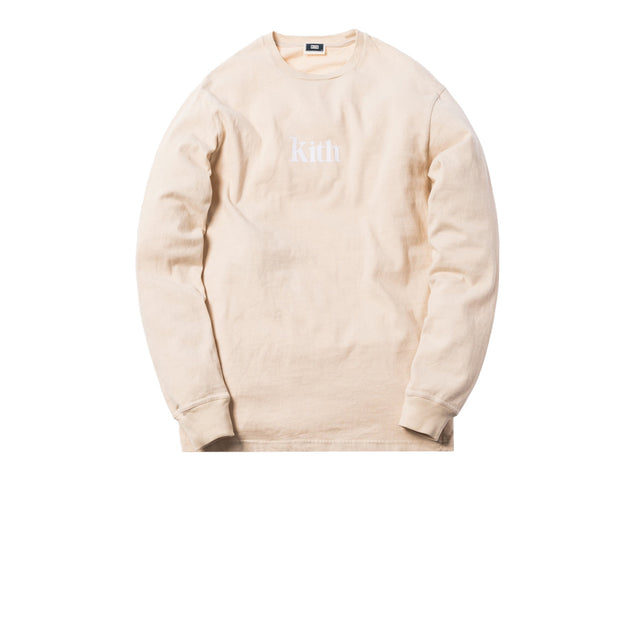 Copy of Kith Pigment Dyed Swash L/S Tee Beige