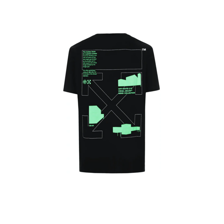 OFF-WHITE Slim Fit Arch Shapes T-Shirt Black/Green - Rerun Toronto