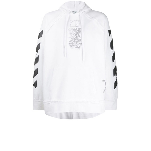 Off White Dripping Hoodie White