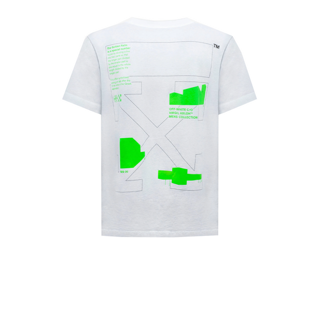 Off White Green Golden Ratio Tee