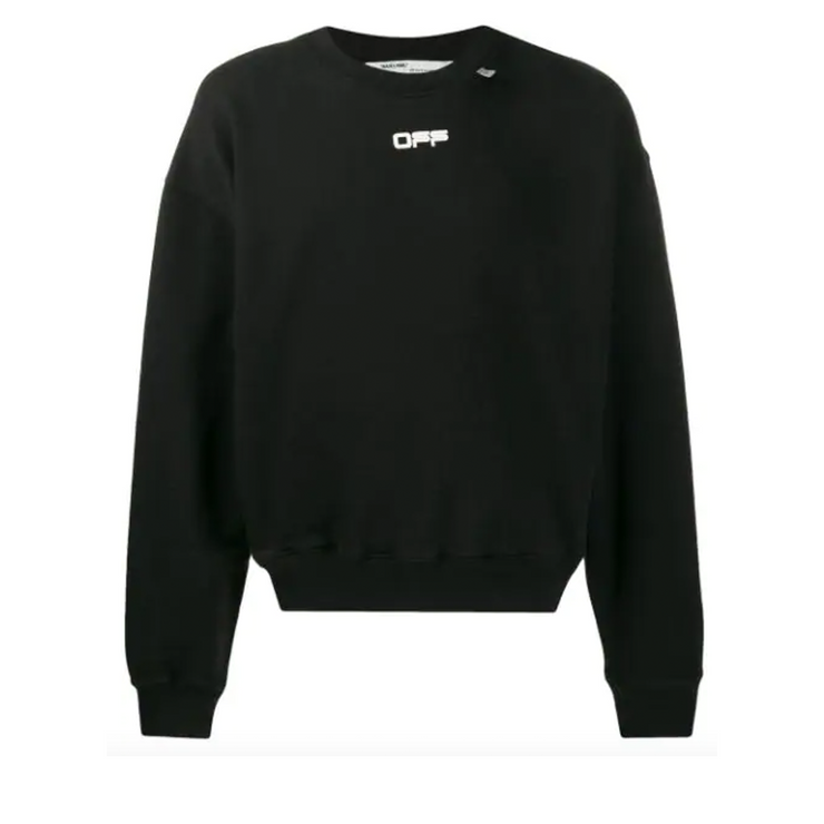 Off White OFF Crewneck Black