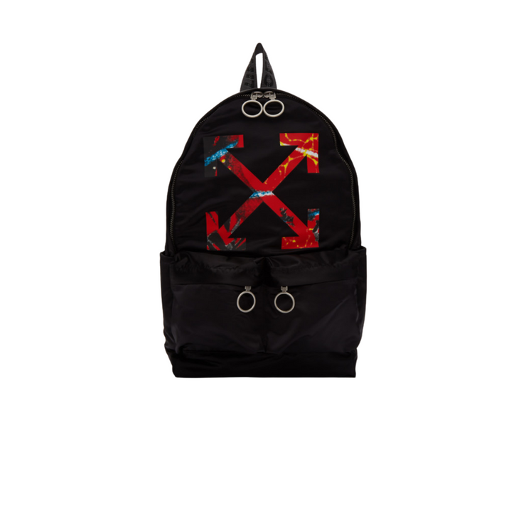 Off-White Black and Red Arrows Backpack