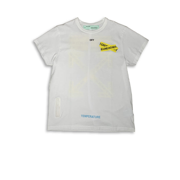 Off-White Fire Tape Tee