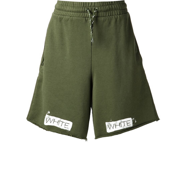 Off White Sweat Shorts Green - Rerun Toronto