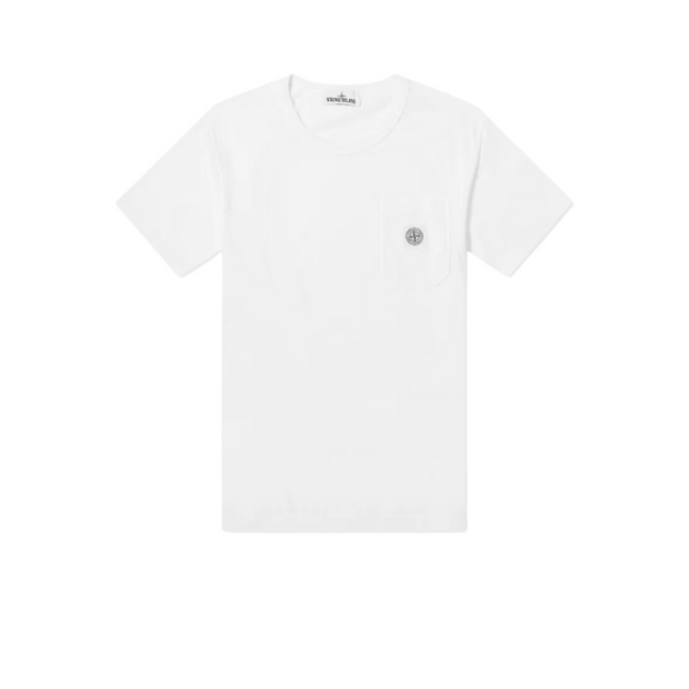 STONE ISLAND WASHED PATCH POCKET TEE