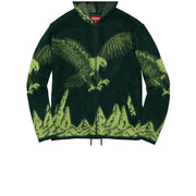 Supreme Eagle Zip Up Green