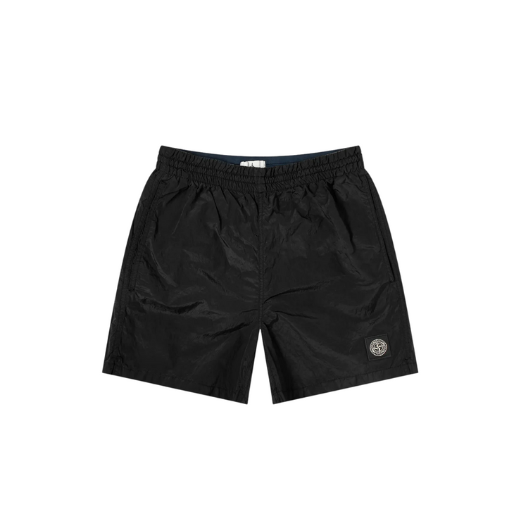 Stone Island Black Nylon Shorts