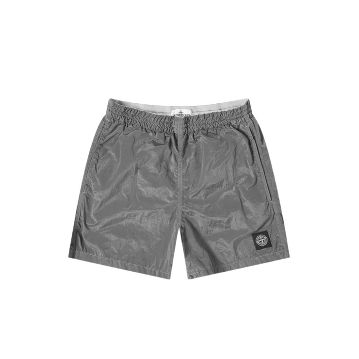 Stone Island Grey Nylon Shorts