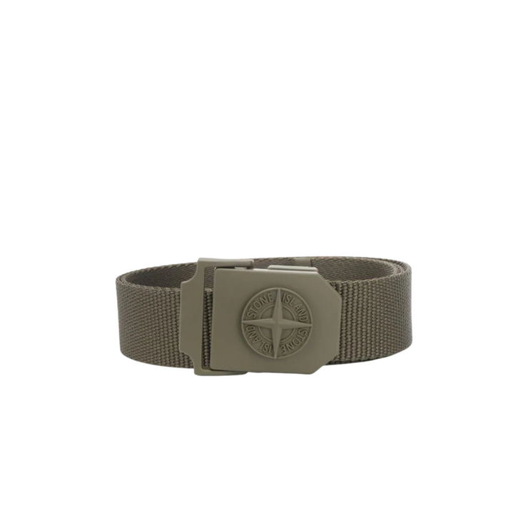Stone Island logo-plaque belt
