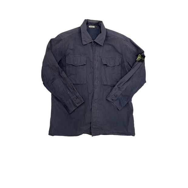 Stone Island Navy Overdyed Work shirt