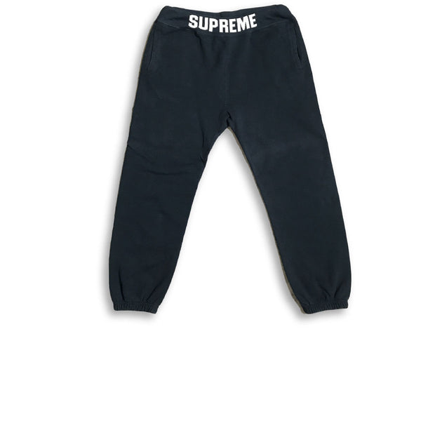 Supreme Logo Band Sweatpants Navy