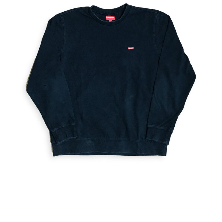 Supreme Mini Box Logo Crewneck Navy