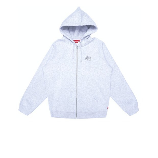 Supreme Grey 1994 Zip Up Hoodie