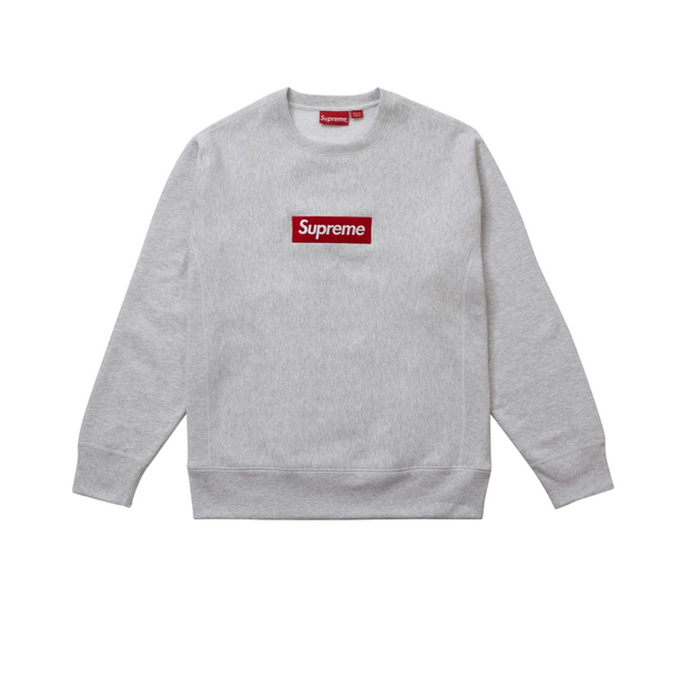 Supreme Box Logo Crewneck Grey
