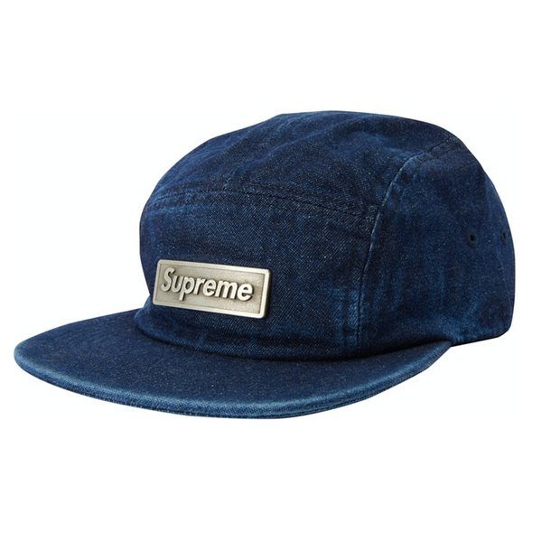 Supreme Denim Metal Box Logo Cap