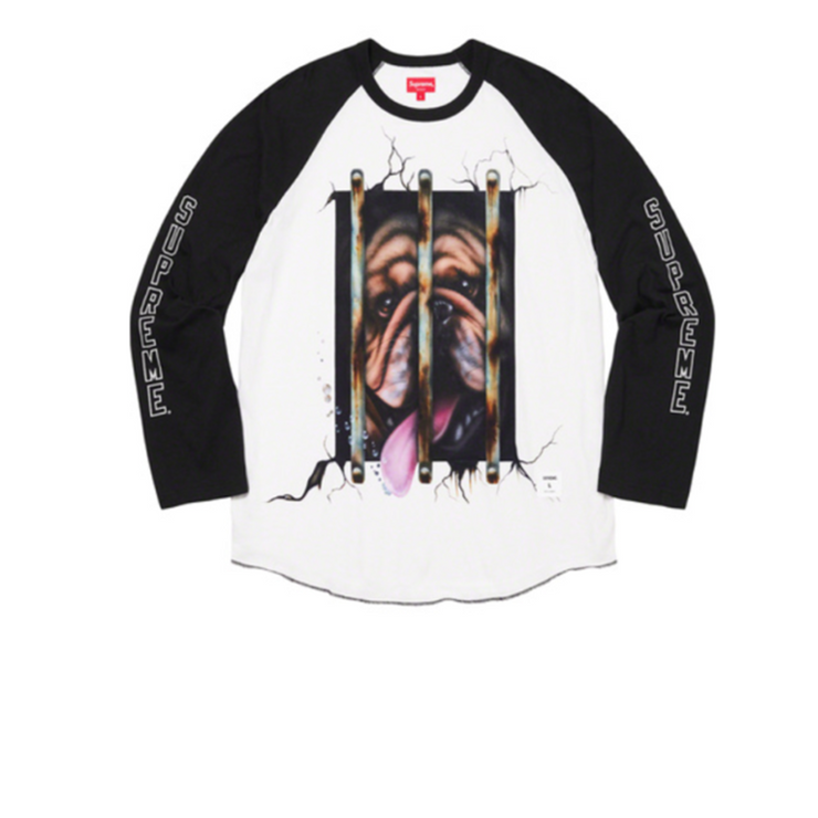 Supreme Dog Raglan L/S Top Black