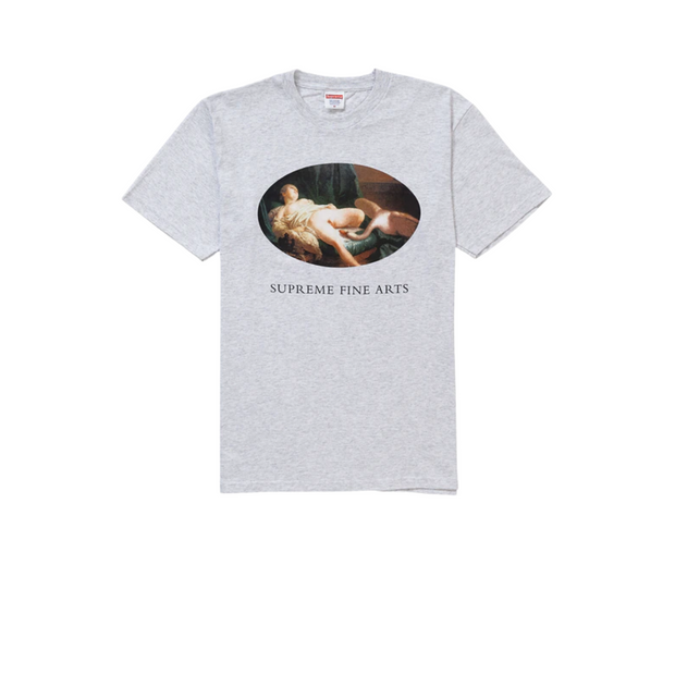 Supreme Leda and the Swan Tee Ash Grey
