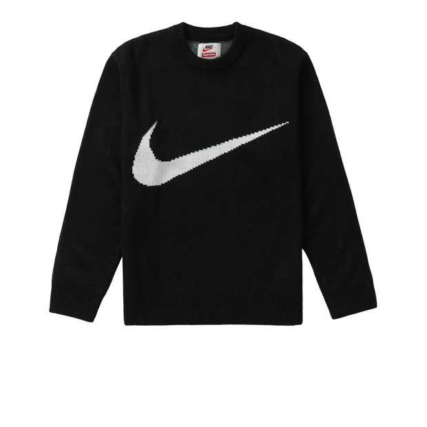 Supreme Nike Swoosh Sweater Black