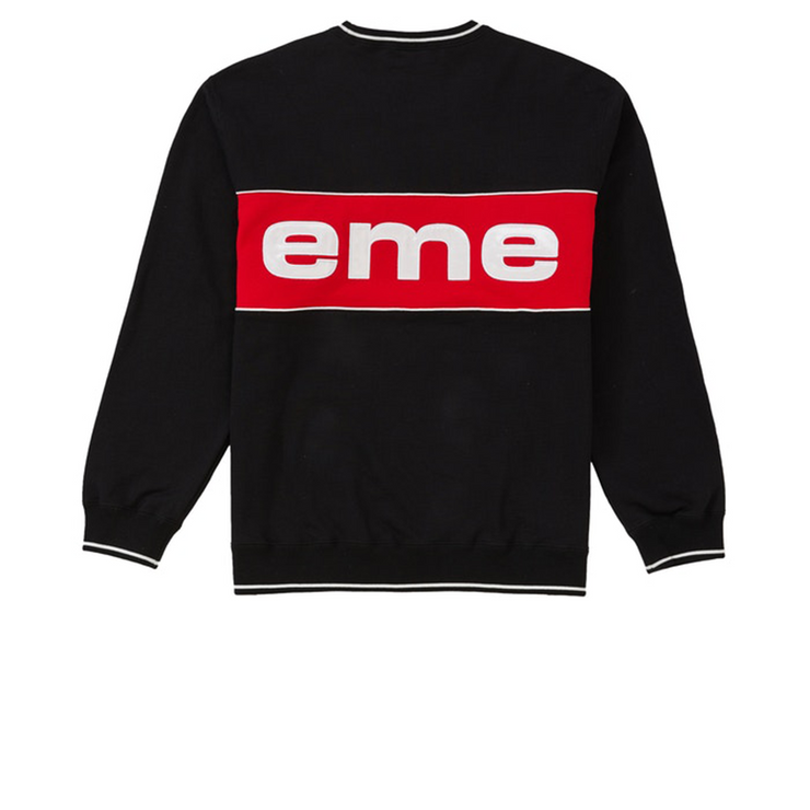 Supreme Piping Crewneck Black