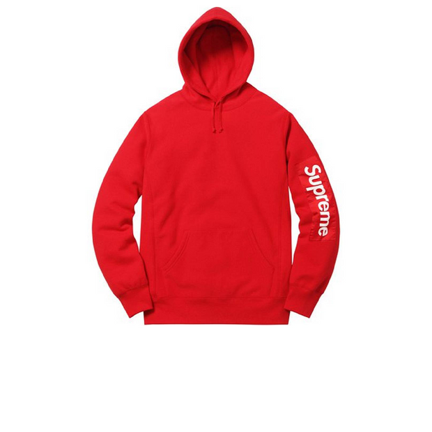 Supreme Red Patches Hoodie