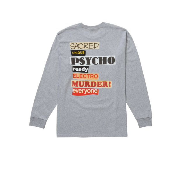 Supreme Sacred Unique Long-Sleeve Tee Gray