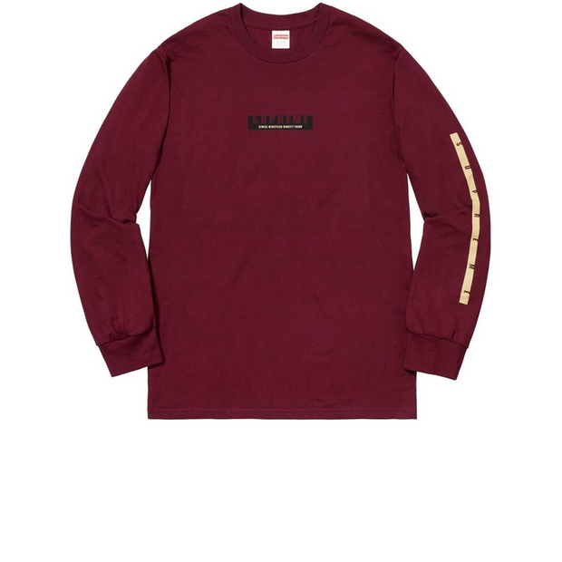 Supreme 1994 Long Sleeve Burgundy - Rerun Toronto