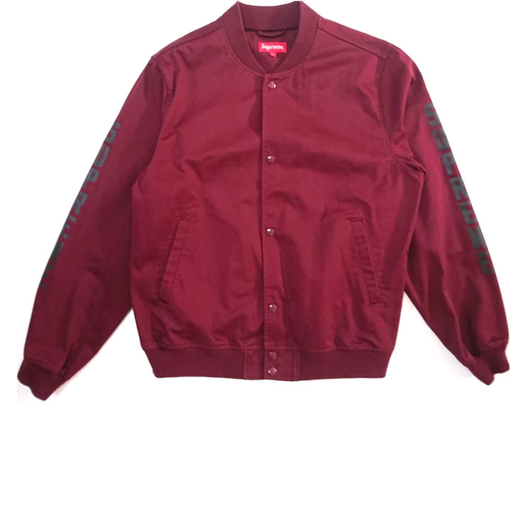 Supreme Anti Hero Bomber Jacket Burgundy - Rerun Toronto