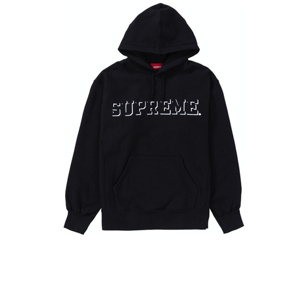 Supreme Drop Shadow Embroidered Hoodie